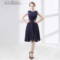 Tea Length Navy Bridesmaid Dresses 2018 Robe Demoiselle D Honneur Ever Prettty Maid Of Honor Dress