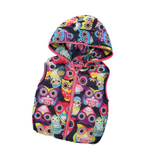 2016 Automne Fille Gilets Veste Enfants Vêtements Caractère Mode Enfants Vêtements À Capuche Gilets Casual Bébé Filles Gilet Manteaux