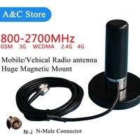 Double bande mobile/vehical antenne UHF CDMA GSM 2G 3G 4G-LTE 800 ~ 2700 MHz magnétique montage 3 M câble pour KT8900 KT8900R BJ-218 TM-218