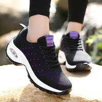 New Ladies Rocking Shoes 2019 Spring Thick Bottom Lightweight Breathable Lace Dance Shoes Casual Sports Shoes Women 35-42