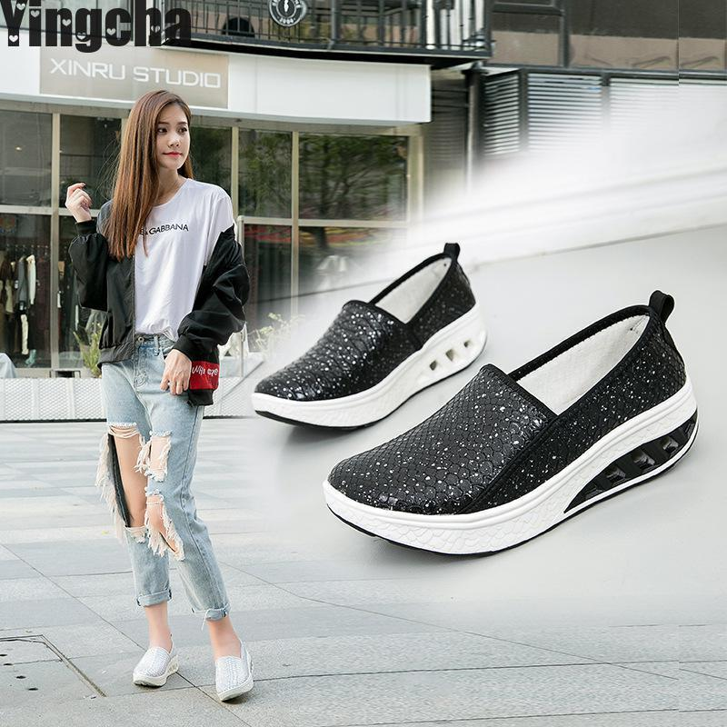 New 2018 Summer Pu Leather Cutout Breathable Swing Shoes White Black Nurse Shoes Wedges Heighten Shoes Mother Shoes Sandals beyarne white nurse shoes sandals leather wedges cow muscle outsole women summer maternity shoes sandals mother shoes size 33 41