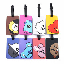 8 Colors Travel Accessories Luggage Tag Animal Cartoon Silica Gel Suitcase ID Addres Holder Baggage Boarding Tags Portable Label