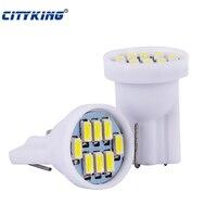 Wholesale 500pcs/lot white T10 8led LED 3014 W5W T10 8smd 194 168 192 LED White Car Side Wedge Tail Light Lamp Bulb
