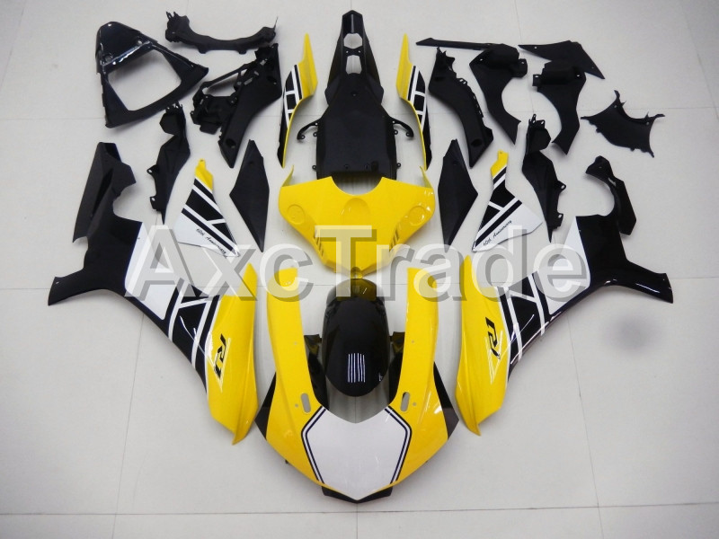 Injection Molding Motorcycle ABS Plastic Bodywork Fairing Kit Fit For Yamaha YZF1000 R1 2015 2016 2017 Yellow Fairing Parts YZF for yamaha tmax530 2012 2014 plastic abs injection motorcycle fairing kit bodywork cowlings