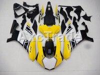 Moulage par injection Moto Plastique ABS Carrosserie Carénage Kit Fit Pour Yamaha YZF1000 R1 2015 2016 2017 Jaune Carénage Pièces YZF