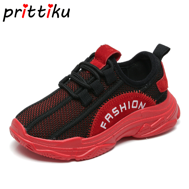 2018 Toddler Boy Girl Knitted Mesh Slip On Sneakers Little Kid Green Blue Red Fashion Trainers Big Children School Casual Shoes