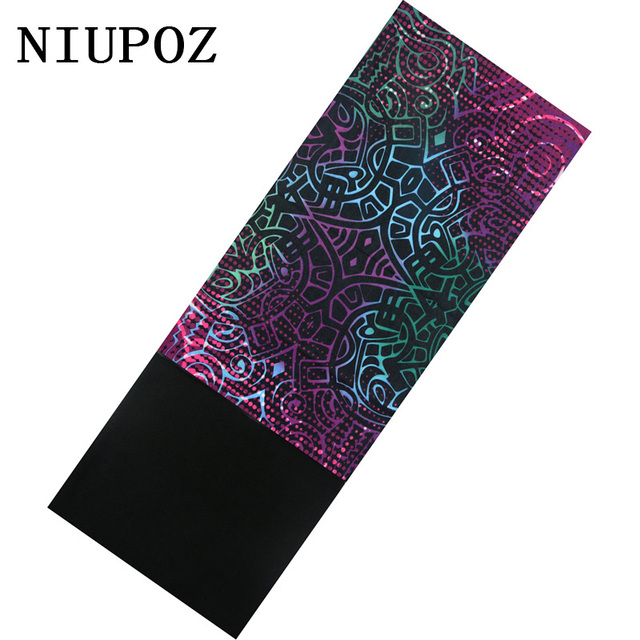 New Design Winter Autumn Fleece Neck Ring Scarf Eye print Magic Headband Multi Functional Warm Bandana Flower Print Seamless