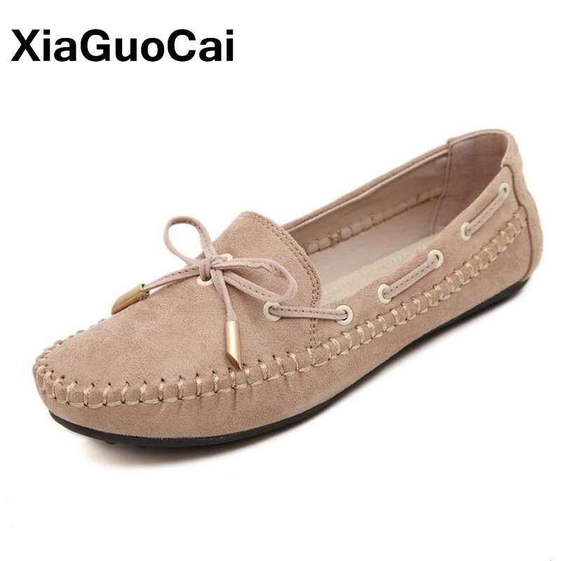 Sweet Bowtie Women Loafers Spring Autumn Women's Flats Boat Shoes Slip-On Breathable Ladies Casual Shoes Moccasin Big Size enmayla most popular portable ladies loafers casual shoes woman ballet flats shoes women slip on flats shoes big size 34 43