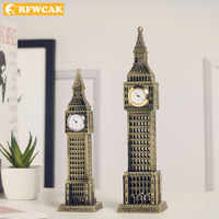 Dropshopping London Big Ben Model Crafts Tourism Souvenirs Gift Desk Decor European Retro Ornaments Home Decoration Accessories