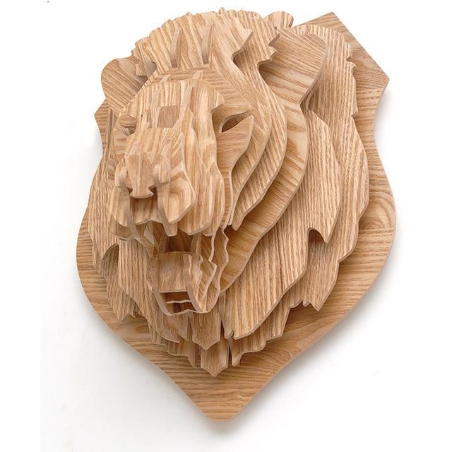 J E High End Lion Head Decorative Wall Home Decor Photowall Partner Decoration Decorating Self