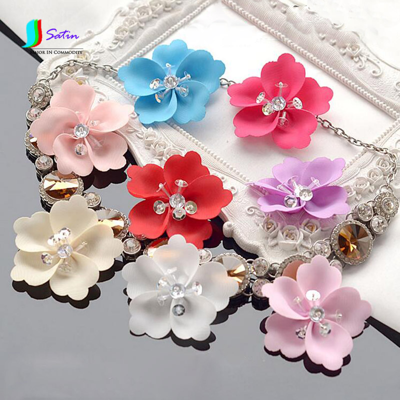 Arts,crafts & Sewing Modest Colorful Cloth Craft Handmade Shoe/bag/garment/wedding Dress Sewing Accessory Three-dimensional Bead Flower S0082l