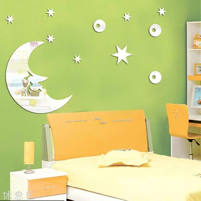 aliexpresscom buy free shipping moon and stars childrenu0027s room - Star Wall Decor