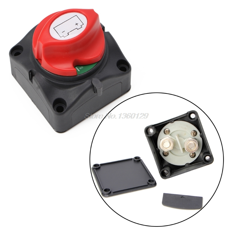 Image 2 - Universal Car Battery Isolator Master Cutoff Cut Off Power Kill Switch 12V/24V Waterproof Cover Switch for Car Truck Boat Auto-in Switches from Lights & Lighting