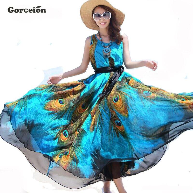 Gorgeion brand plus tamaño de la longitud del piso maxi mujeres dress elegante m
