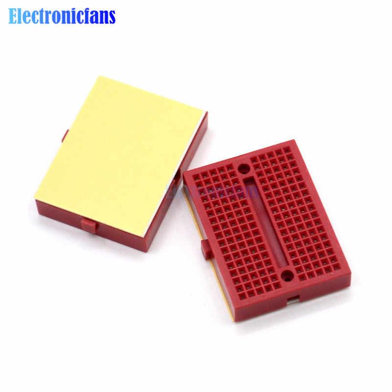 Tablero para pan de 170 puntos de amarre, 35*47*8,5mm SYB-170 Mini Placa de pruebas experimental sin soldadura, kit diy para arduino