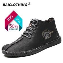 Классические удобные мужские повседневные ботинки, мужская обувь, качественная кожаная обувь, мужская обувь на плоской подошве, Лидер продаж, Мокасины, обувь большого размера