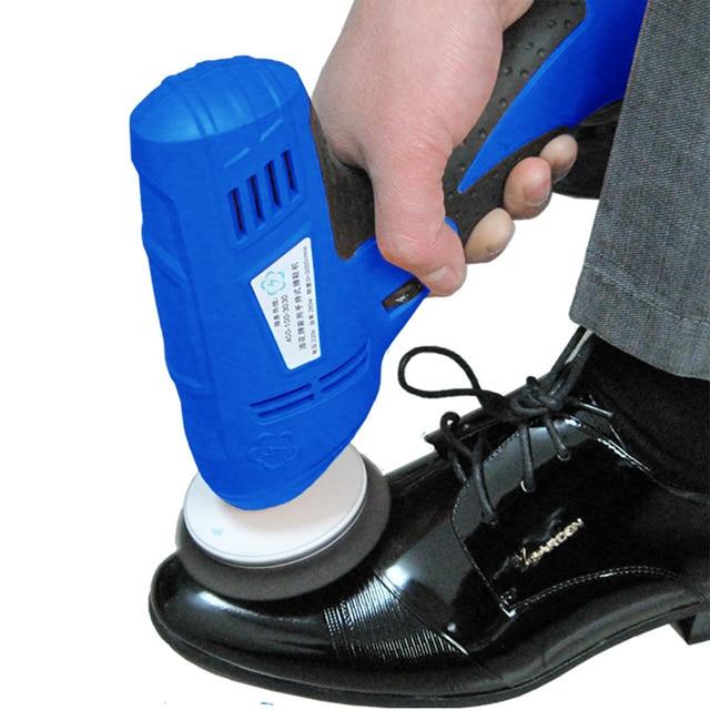 บ้านที่มีประสิทธิภาพสะดวกรองเท้าขัดมือถือ Mini Mini แบบพกพาเครื่องขัดอัตโนมัติรองเท้าขัดรองเท้า