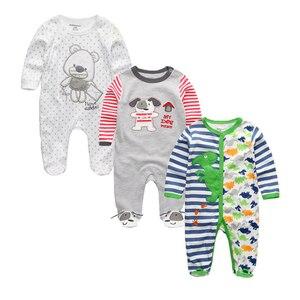 Image 2 - 2020 Unisex 2/3pcs/lot Baby Rompers 0 12M Pajamas Newborn Clothing Set Baby Girls Clothes Baby Boy Clothes O Neck Roupa de bebe
