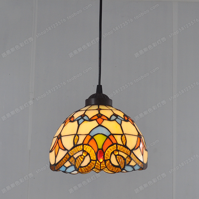 8 inch minimalist baroque chandelier Tiffany sink small table retro European households with children's room lighting