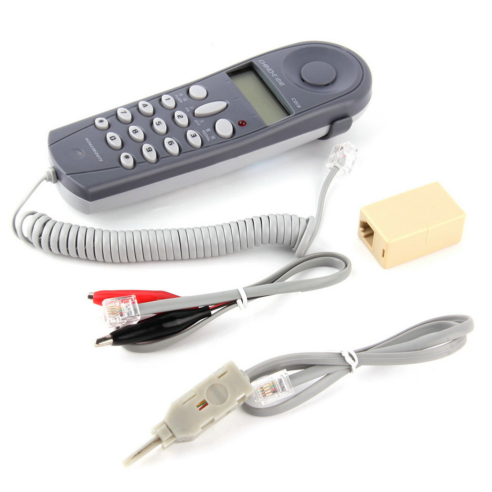 1 set Telefono Telefono Butt Prova Tester Guardalinee Strumento Cavo di Rete Set Dispositivo Professionale C019 di Controllo PER LA Linea Telefonica Guasto