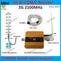 13dBi Antena Yagi + 2100 MHz 3G WCDMA Mobile Phone Signal 2100 WCDMA UMTS Amplificador de Sinal de reforço 3G Repetidor Com Lcd exibição
