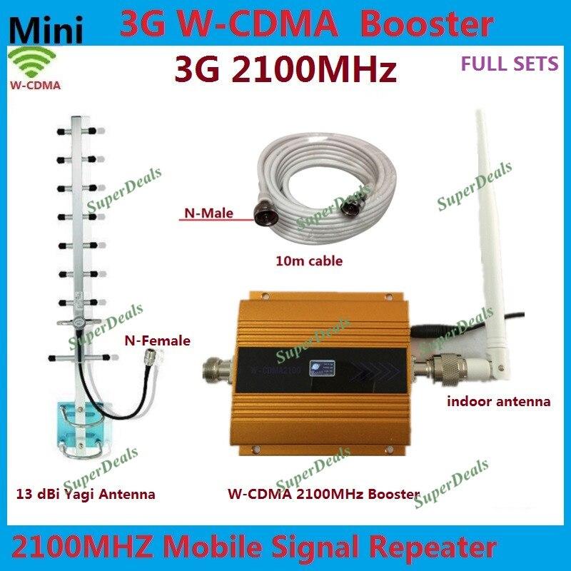 13dBi Yagi antenne + câble 2100 MHz WCDMA amplificateur de Signal de téléphone portable répéteur 3G 2100 UMTS amplificateur de Signal prend en charge 3g cellulaire