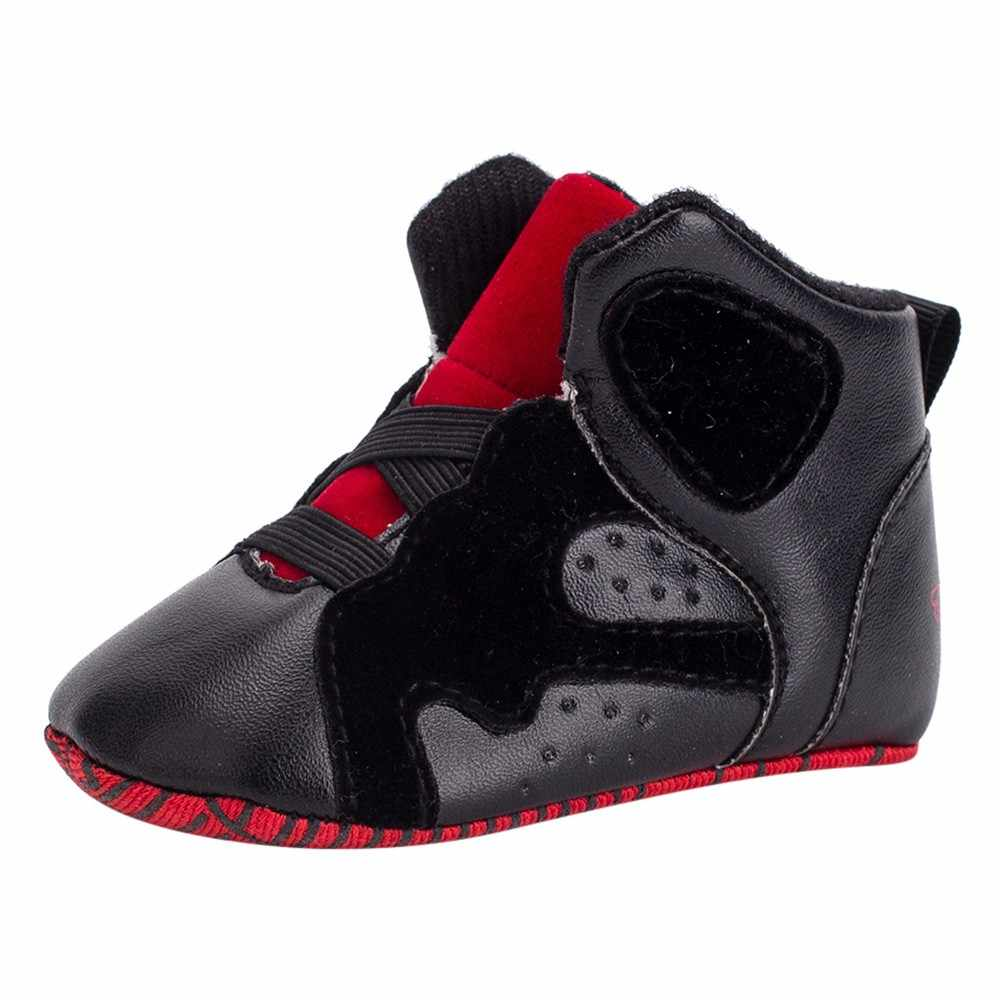 Newborn Elastic Shoes Fasion Hot Sell Best Gift Newborn Baby Boys Girls Basketball Geometric Soft Sole Boot Casual Elastic Bandfirst Walker Shoes