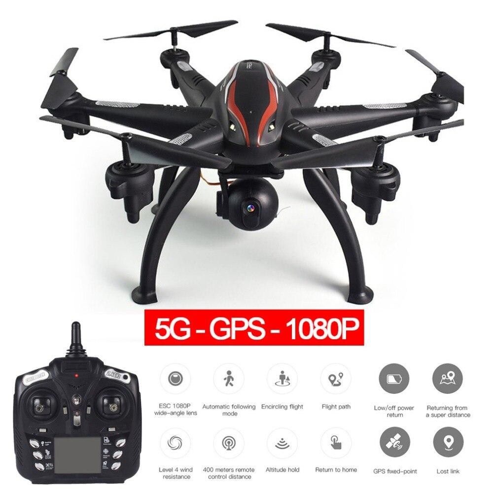 L100 6 axes 4CH 720 P/1080 P HD grand Angle 2.4G/5G RC Drone quadrirotor avion avion WiFi FPV double GPS 180 caméra réglable Dron