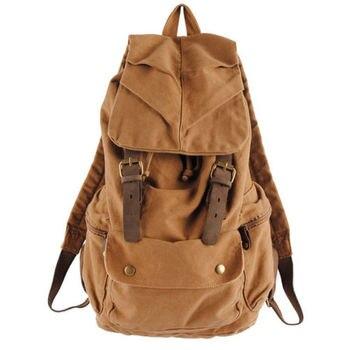 8cd0f50ede3e Винтажный ретро холщовый рюкзак дорожный рюкзак школьный ранец сумка ...