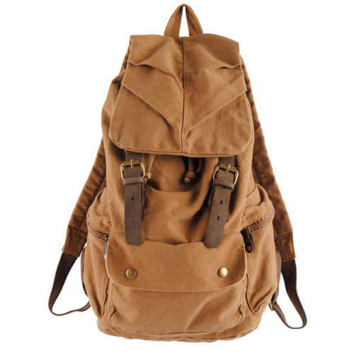 Vintage Retro Canvas Backpack Travel Rucksack Satchel School Bag