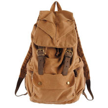 Vintage Retro Canvas Backpack Travel Rucksack Satchel School Bag