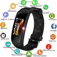LIGE pulsera inteligente IP68 reloj deportivo inteligente resistente al agua para hombres para Iphone ios Monitor de ritmo cardíaco funciones de presión arterial banda inteligente|Relojes de mujer| |  -