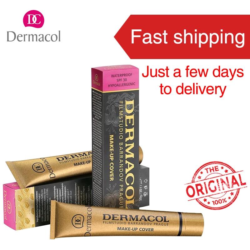 100% original dermacol maquillaje marca PRO Antiojeras Paletas cosmética cubierta Bases Fundación Bases Primer corrector crema