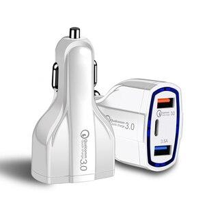 Image 2 - 빠른 충전 3.0 자동차 충전기 5 v 3.5a qc3.0 pd usb 유형 c 빠른 충전 듀얼 자동차 휴대 전화 충전기 아이폰 7 삼성 xiaomi