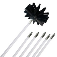 1set Nylon Brush With 6pcs Long Handle Flexible Pipe Rods For Chimney Kettle House Cleaner Cleaning Tool Kit 2019 NEW