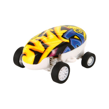 1pc Mini High-Speed Stunt Car Decompression Toy 360 Rotating Laser Chariot Racing Model Toys for Kids USB Charging image