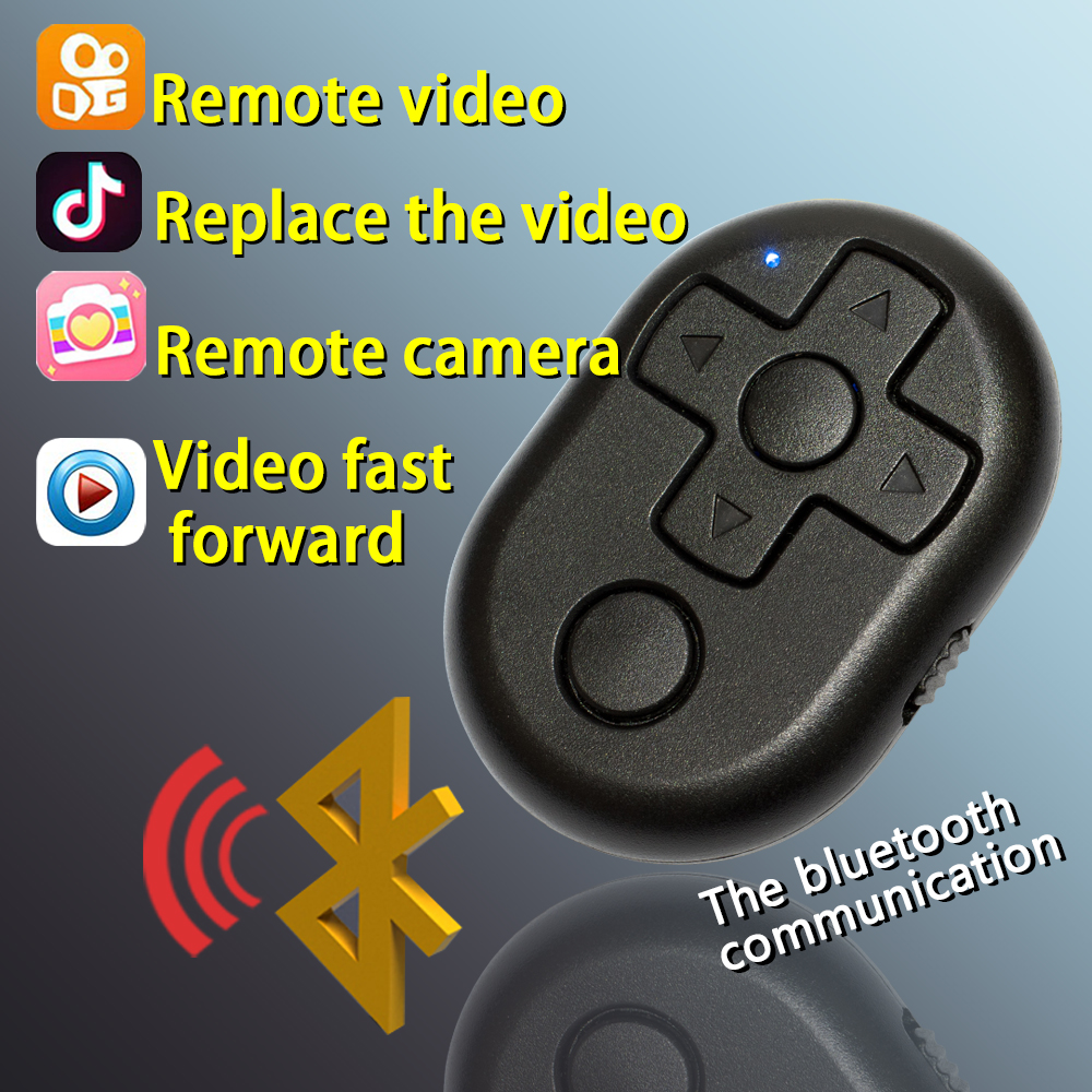 US $4 41 22% OFF Remote Control for Tik Tok Vigo Video Short Video APP  Bluetooth Connection for IOS/Android Phones portable dvd player-in Remote