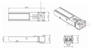 Image 2 - FWLF163226HW 2.5G DWDM D6 100G 120KM SM ESF Module
