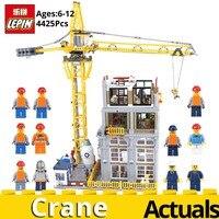 Лепин натуральная MOC Строительство Серии 15031 строительство с Набор кран строительные блоки кирпичи Рождественский подарок игрушки для дете