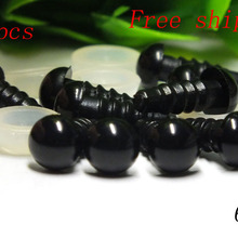 Free shipping!!!Wholesale 1000pcs 6mm and 1000pcs 10mm black safety eyes for Emma Lai