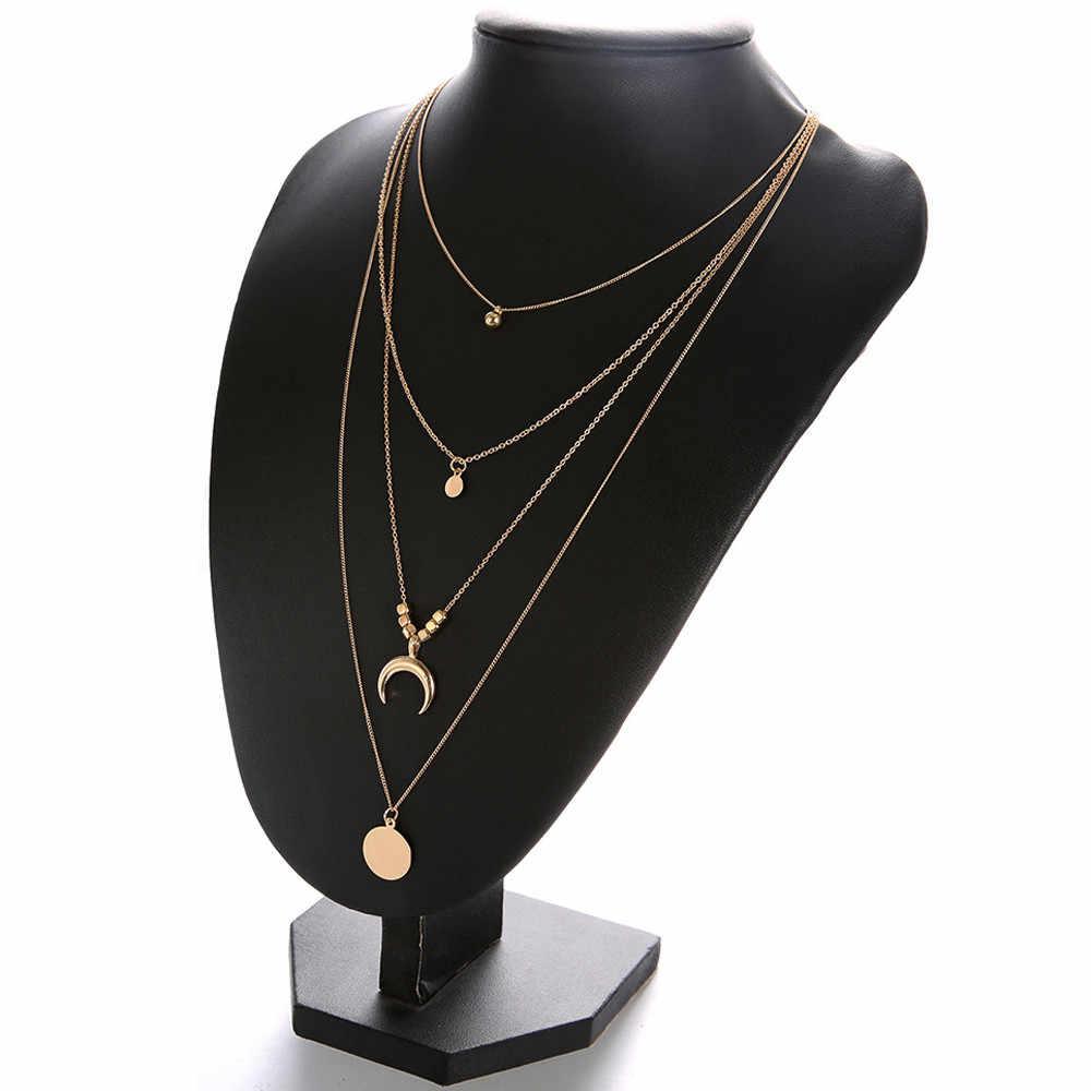最高の販売ネックレス女性ファッションムンクロスペンダントネックレスチェーンエレガントなジュエリー collares