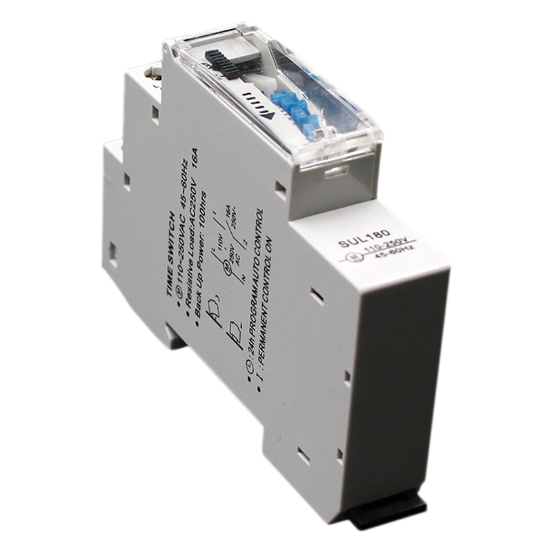SUL180a 15 Minutes Mechanical Timer 24 Hours Programmable Din Rail Timer Time Switch Relay Measurement Analysis Instruments Ne