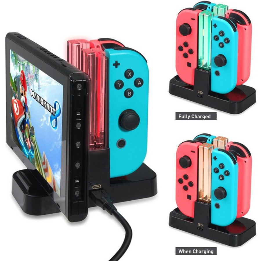 4 in 1 Controller Charger for Nintendo Switch / Pro