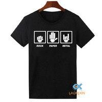 Rock Paper Metal Mens T Shirt Rock Heavy Metal AC DC Metallica Tops Tees Shirt Unisex