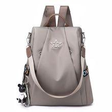 2019 New Women Backpack Purse Waterproof Nylon Anti-theft Rucksack Lightweight School Shoulder Bag