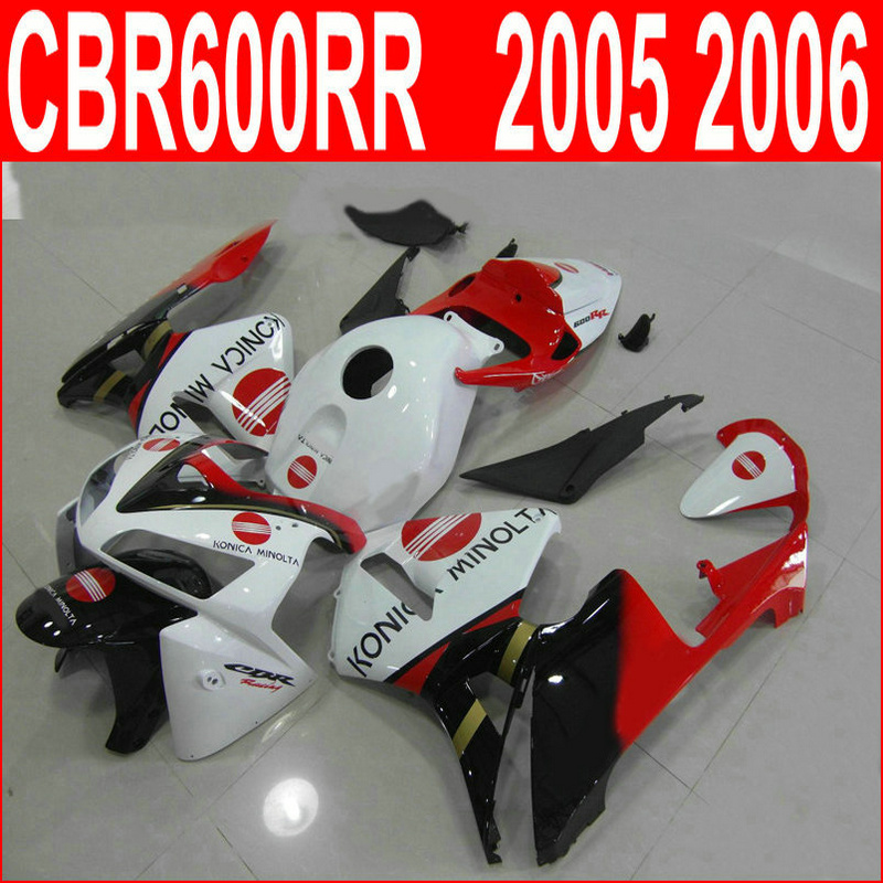 Us 333 0 10 Off Aftermarket Body Parts Fairing Kit For Honda Cbr600rr 05 06 White Red Black Injection Mold Fairings Set Cbr600rr 2005 2006 Hn61 In