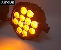 4 лот Рождественские огни светодиодное освещение шоу проектор открытый номинальной led 12x15 Вт rgbwa led par 5in1 dmx светодиод может водонепроницаемый
