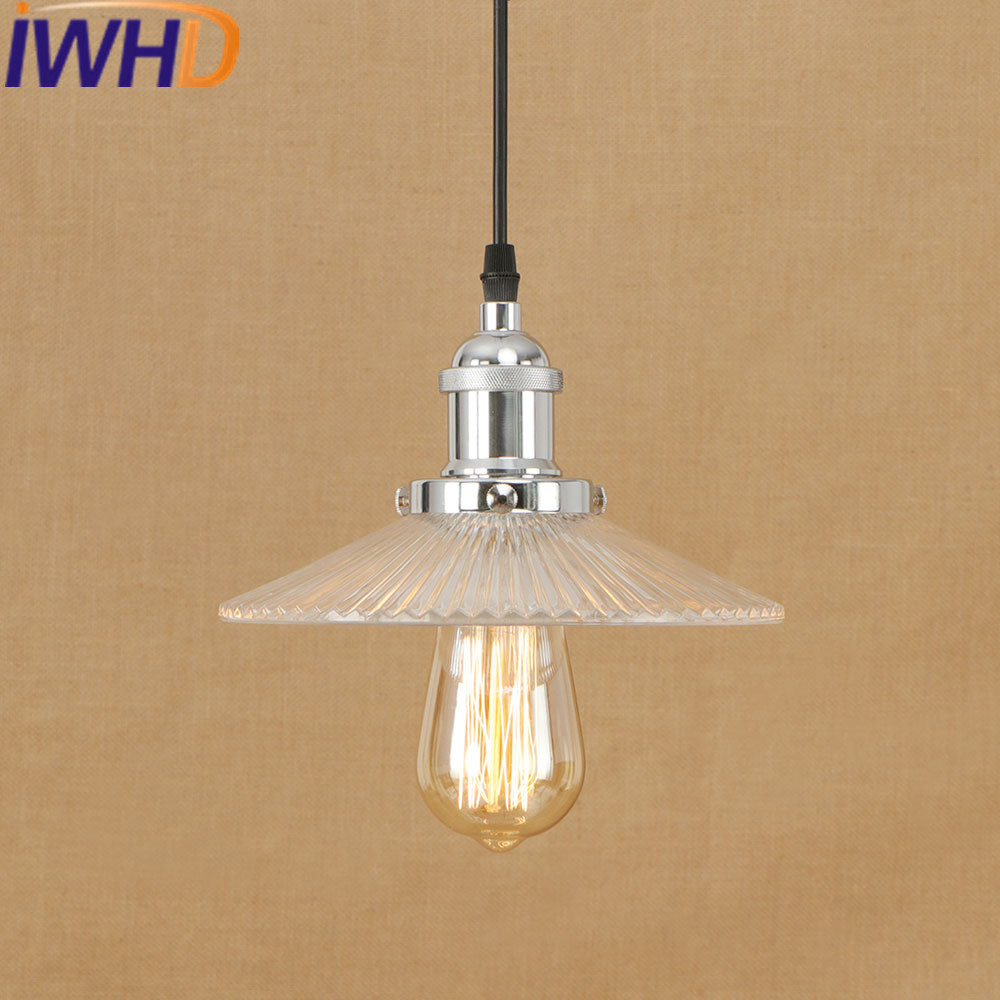 IWHD Hanglamp Style Loft Vintage Industrial Pendant Light LED Glass Retro Lamp Kitchen Pendant Lights Iron Suspension Luminaire iwhd gold iron style loft industrial vintage pendant lights retro birdcage hanging lamp kitchen dining room luminaire suspendu