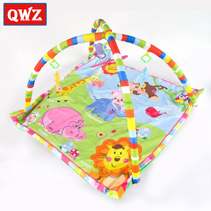 Baby animal game blanket mat Baby Activity Gym Giraffe tiger elephant animal crawling mat Baby sleeping appease rattle toy