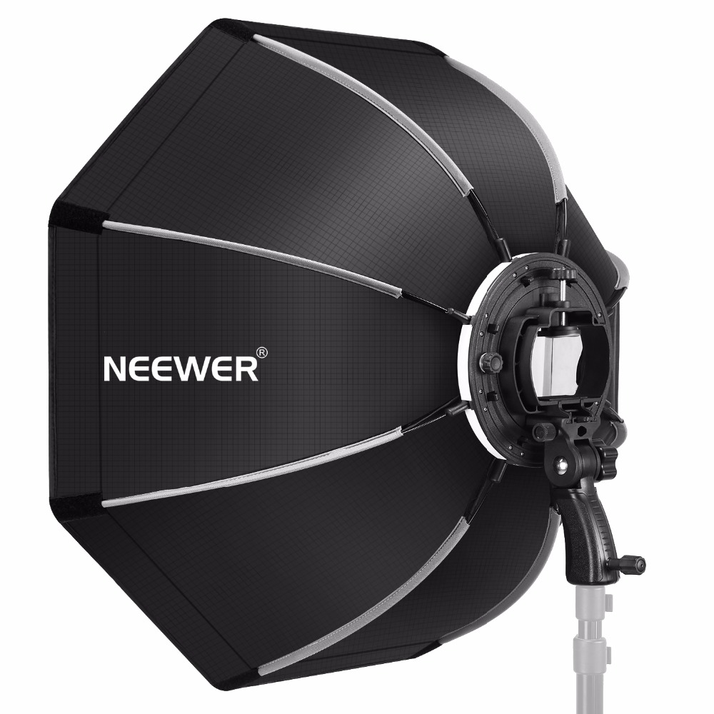 Neewer 26 Inches Octagonal Softbox With S-type Bracket, Case For Canon Nikon